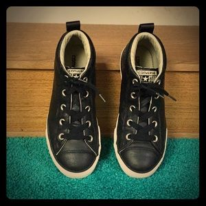Converse - CT Street Mid Black Leather